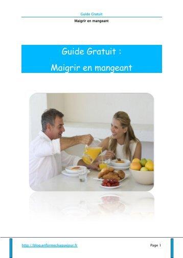 Guide Gratuit - Blog En Forme Chaque Jour