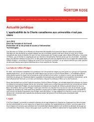 L'applicabilité de la Charte canadienne aux universités n'est pas claire