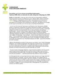 Consultation sur le Livre vert pour une politique ... - Nature Québec