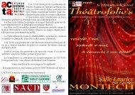Programme - ACTA82 LE THEATRE AMATEUR en TARN ET ...