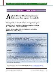 ngiocholite sur dilatation kystique du cholédoque : Une urgence ...