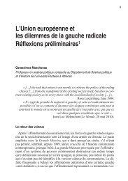 L'Union européenne et les dilemmes de la gauche ... - Espaces Marx