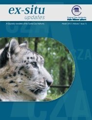 Ex-Situ updates (March 2012) - Ministry of Environment and Forests