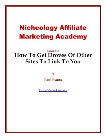 Nicheology Affiliate Marketing Academy