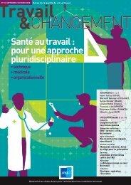 Santé au travail : pour une approche pluridisciplinaire - FACT