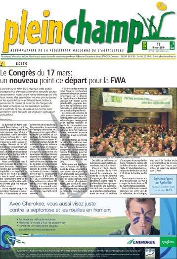Le Congrès du 17 mars: un nouveau point de départ pour la FWA