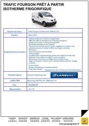 Trafic Fourgon Confort L1H1 1200 dCi115 - Groupe Grasser