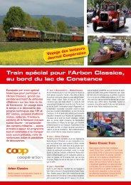Train spécial pour l'Arbon Classics, au bord du ... - Classic Bodensee