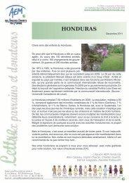HONDURAS - Amis des Enfants du Monde