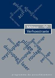 catalogue de parachèvement - Metalen Verhoestraete Roeselare