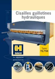 Cisailles guillotines hydrauliques - Haco