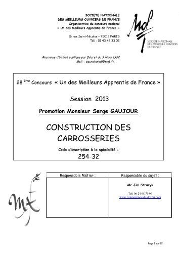 Maroquinerie 243 17 meilleurs ouvriers de france for Meilleurs plans de construction