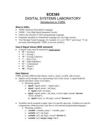 ECE385 DIGITAL SYSTEMS LABORATORY