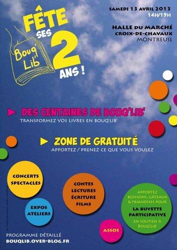 zone de gratuité des centaines de bouq'lib' - Le Citron Vert - Montreuil