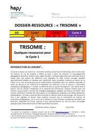 Trisomie: Quelques ressources pour le Cyle 1 (PDF ... - HEP Vaud