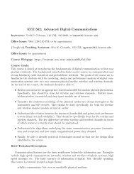 ECE 562: Advanced Digital Communications