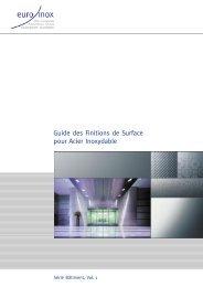PDF: Guide des Finitions de Surface pour Acier Inoxydable - Euro Inox
