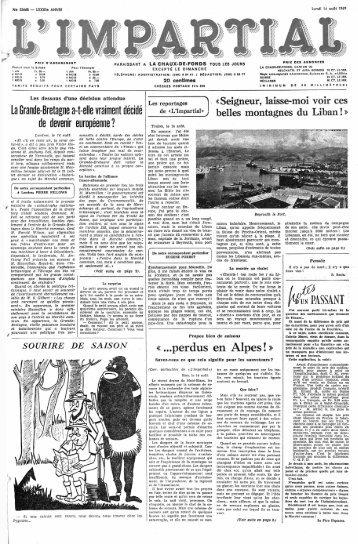 f&ASSANT «...perdus en Alpes!» - Archives historiques | L'Express ...