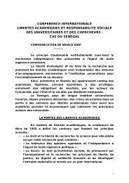 conference internationale libertes academiques et ... - codesria