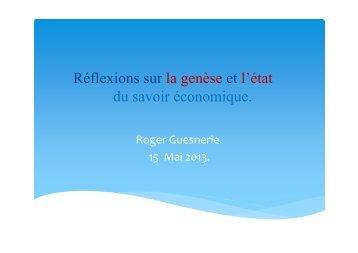 Roger Guesnerie - Collège de France