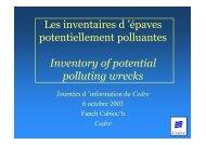 Les inventaires d 'épaves potentiellement polluantes ... - Cedre