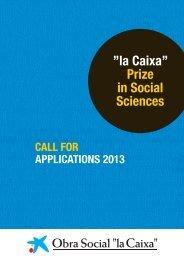 """la Caixa"""" Prize in Social Sciences - Obra Social"""