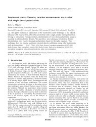 Incoherent scatter Faraday rotation measurements on a radar with ...