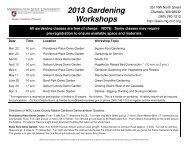 2013 Workshop Schedule b - WSU Extension Counties