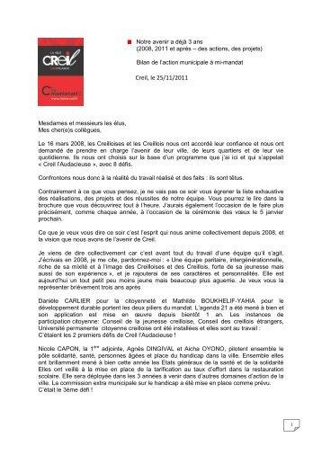 Bilan de l'action municipale à mi-mandat - Ville de Creil