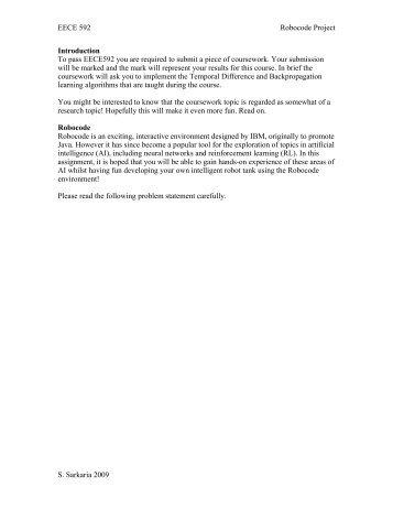 EE592 Robocode Project 2009 - Courses