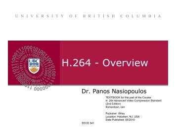 H.264 - Overview - Courses