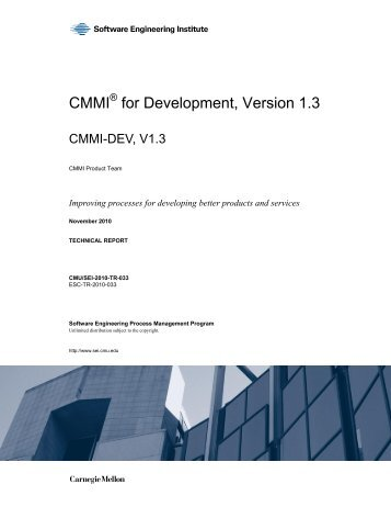 CMMI® for Development, Version 1.3 CMMI-DEV, V1.3