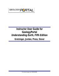 Instructor User Guide for GeologyPortal Understanding Earth, Fifth ...