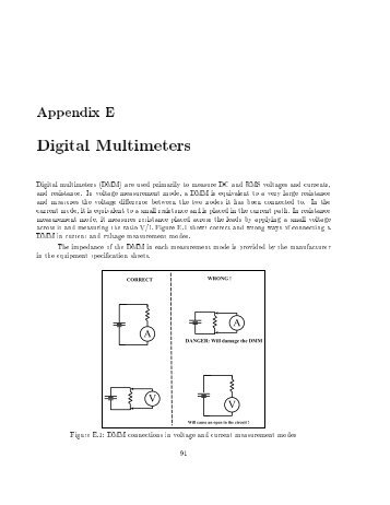 24!489 Digital multimeters (DMM) are used primarily to ... - Courses