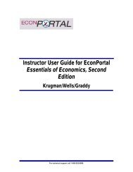 Instructor User Guide - BFW Integrated Learning Solutions