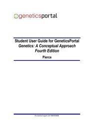 Student User Guide for GeneticsPortal Genetics: A Conceptual ...