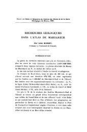 recherches géologiques dans l'atlas de marrakech - Revue de ...