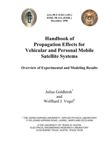 Handbook of Propagation Effects for Vehicular and ... - Courses