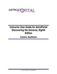 Instructor User Guide for AstroPortal Discovering the Universe ...