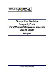 Student User Guide for GeographyPortal World Regional ...
