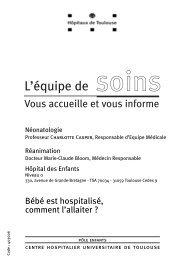 Bébé est hospitalisé, comment l'allaiter - CHU Toulouse