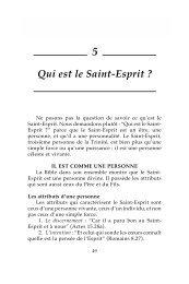 Qui est le Saint-Esprit ? - Biblecourses.com