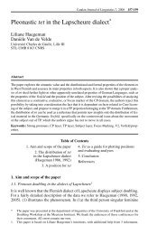 Pleonastic tet in the Lapscheure dialect. Catalan Journal of ... - RACO