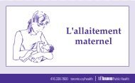 Breastfeeding Your Baby Booklet (French) - Toronto Public Health