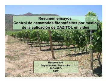 resumen ensayos de dazitol - Biorend
