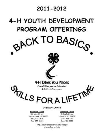 4-H and Youth