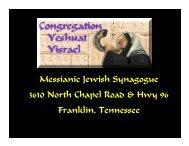 Messianic Jewish Synagogue 3610 North Chapel Road & Hwy 96 ...