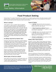 Food Product Dating - Food Safety and Inspection Service - US ...