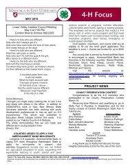 4-H Focus - WSU Extension Counties - Washington State University