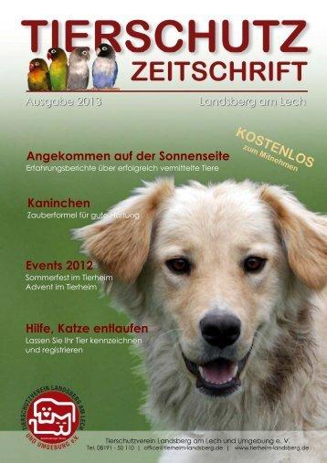 Tierheim Landsberg Zeitung 2013
